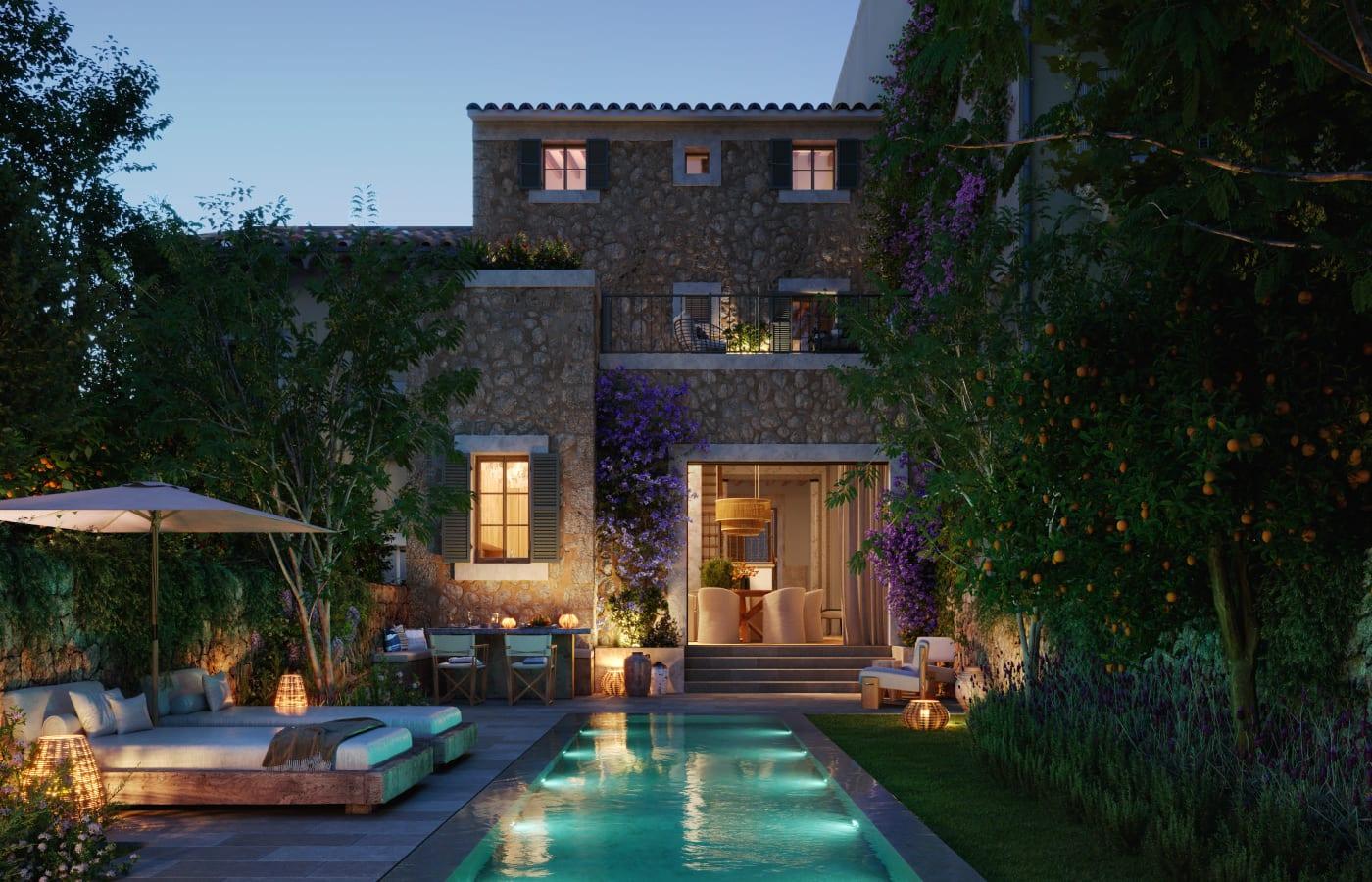 Casa Mares by Night Mallorca